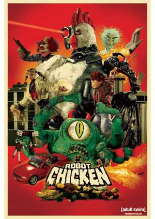 lgpp31792robot chicken adult swim poster 320 640 240 480 Adult Swim Robot Chicken Funny Mask. Halloween Masks