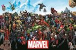 Marvel - Heroes Black Poster