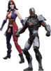 "Injustice: Gods Among Us - Cyborg vs Harley Quinn 3.75"" Action Figure 2-Pack"
