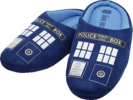 Doctor Who - TARDIS Printed Slippers (Ladies Size 8)