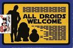 Star Wars - All Droids Welcome Door Mat