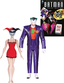 Batman The Animated Series Joker In Purple Suit And Harley Quinn In Dress Mad Love Action Figures 2 Pack Retrospace