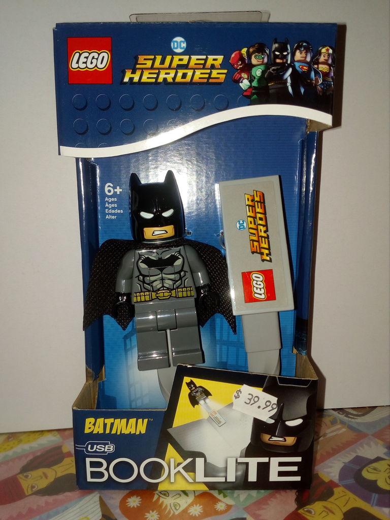 LEGO DC Comics Super Heroes Grey Batman Booklite - Retrospace