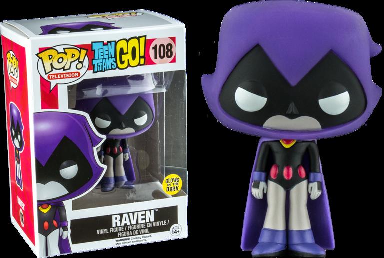 508d3e5d837 Teen Titans Go! - Raven Purple Glow in the Dark Pop! Vinyl Figure ( Television  108)