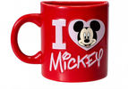 Mickey Mouse - I Love Mickey Mouse Red Magnet Half Ceramic Mug