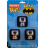 Batman - 75th Anniversary Batman Yellow, Purple & Orange Pocket Pop! Vinyl Figure Carded 3-Pack