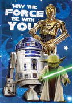 Star wars may the force be with you r2d2 c3p0 yoda birthday card star wars may the force be with you r2d2 c3p0 yoda birthday card bookmarktalkfo Choice Image