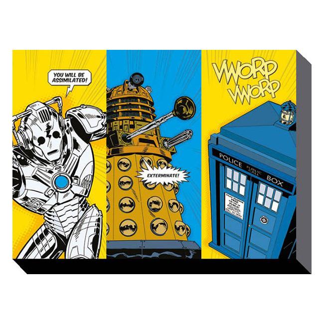 Doctor Who - Comic Strip 60cm x 80cm Wall Art Canvas - Retrospace