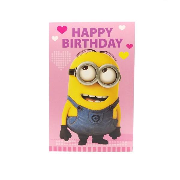 Despicable Me Happy Birthday Hearts Minion Card Retrospace