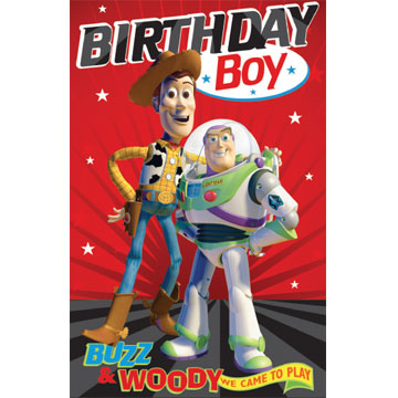 Toy Story Buzz Woody We Came To Play Birthday Card Retrospace